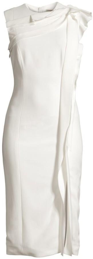 Jason Wu Collection Ruffle Detail Sleeveless Sheath