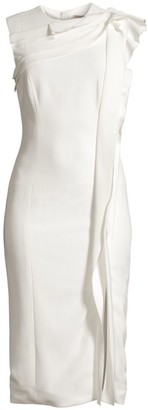 Jason Wu Collection Ruffle Detail Sleeveless Sheath