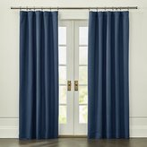Crate & Barrel Wallace Blue Blackout Curtain Panel