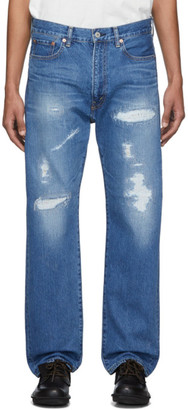 Junya Watanabe Blue Garment-Treated Jeans