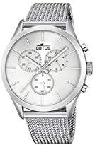 Lotus Men's Quartz Watch with Silver Dial Chronograph Display and Silver Stainless Steel Bracelet 18117/1