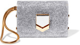 Jimmy Choo Lockett Glittered Acrylic Clutch - Silver
