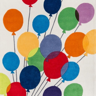 Momeni Lil Mo Whimsy Polyester, Hand-Tufted Rug, Multi Balloons, 8'x10'