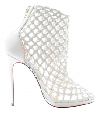 Christian Louboutin White Leather Ankle boots