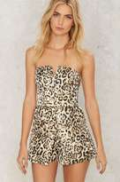 Factory Lay Down the Claw Leopard Romper