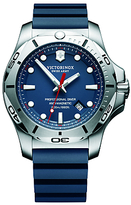 Victorinox 241734 I.n.o.x Diver Rubber Strap Watch, Blue