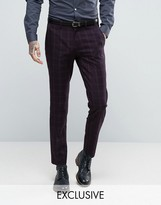 Only & Sons Skinny Suit Trouser In Check