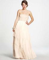 Ann Taylor Beaded Tulle Strapless Wedding Dress