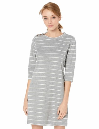 Jack by BB Dakota Junior's My Stripe of gal Ponte Shift with Button Shoulder