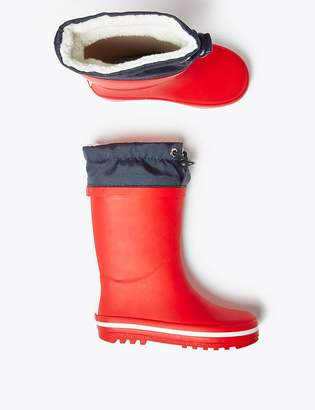 Marks and Spencer Kids' Drawstring Cuff Wellies (5 Small - 12 Small)