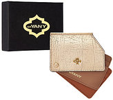 Oryany As Is Pebble Leather Metallic RFID Credit Card Holder - Liam