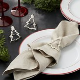 Crate & Barrel Silver Christmas Tree Napkin Ring