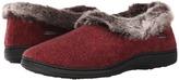 Acorn Faux Chinchilla Collar Women's Slippers