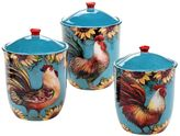 Certified International Sunflower Rooster 3-pc. Ceramic Canister Set
