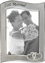 Malden Wedding Celebrations Two-Toned Picture Frame, Just Married, 5 by 7-Inch