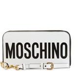 Moschino Logo Zip-Around Leather Wallet