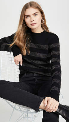 Pam & Gela Metallic Stripe Crew Sweater