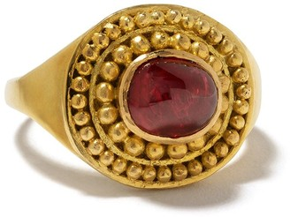 Pippa Small 18kt yellow gold small Zarni spinel ring