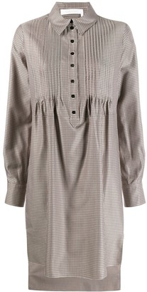 See by Chloe Check Smock Shirt Dress