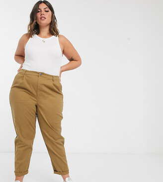 ASOS DESIGN Curve chino trousers in camel