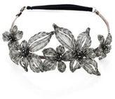 Colette Malouf Mesh & Swarovski Crystal Botanical Headband