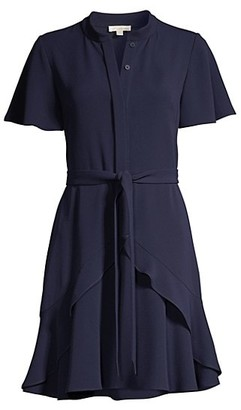 Shoshanna Abelia Ruffle Shirtdress