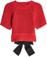 RED Valentino Cropped Open Back Knit Pullover