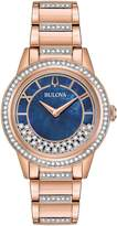Bulova 98L247 Turnstyle Women's Watch Rose Gold and Swarovski Crystals 33mm Stainless Steel
