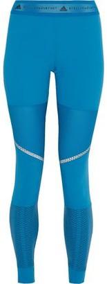 adidas by Stella McCartney Run Az Perforated Printed Stretch Leggings