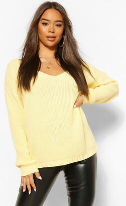 boohoo V Neck Sweater