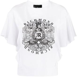 John Richmond crest logo-print T-shirt