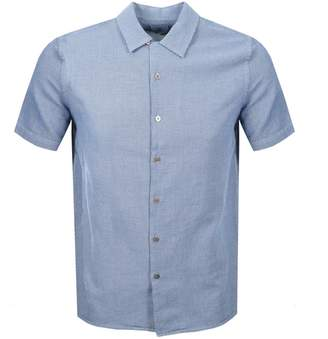 Paul Smith Short Sleeved Casual Shirt Navy