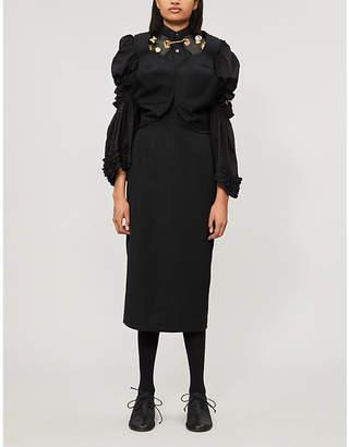 Comme des Garcons Cutout-detail wool midi dress