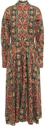 Emilia Wickstead Apollina Printed Silk And Wool-blend Twill Midi Dress