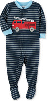 Carter's 1-Pc. Striped Firetruck Footed Pajamas, Baby Boys (0-24 months)
