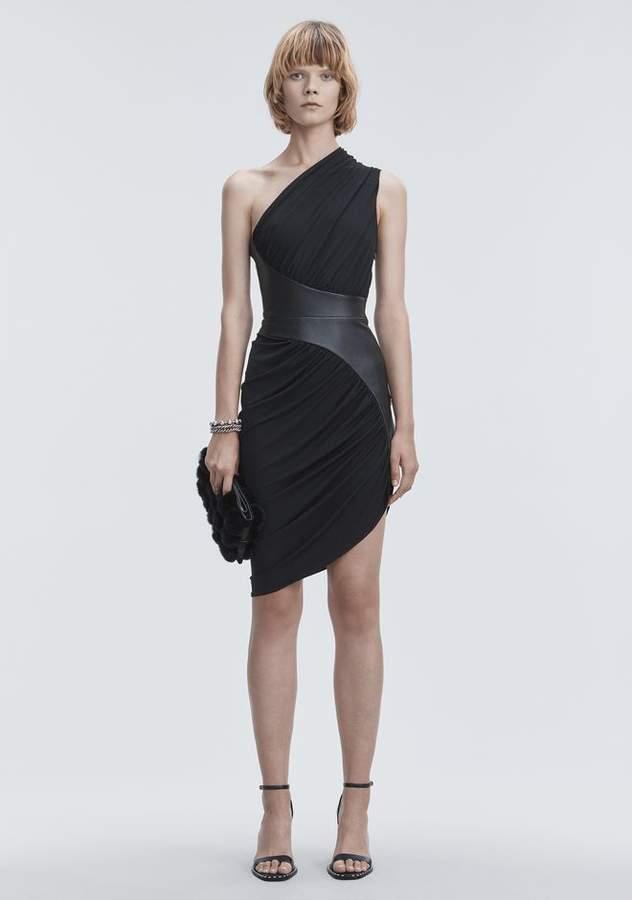 Alexander Wang ASYMMETRIC DRAPED JERSEY DRESS 3/4 Length Dress