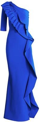 Chiara Boni Shala Cascade Ruffle Gown