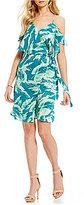 Gianni Bini Amy Palm Print Wrap Dress