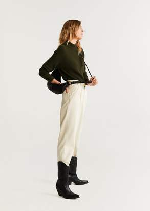 MANGO Long raglan sleeve sweater light/pastel grey - XS - Women
