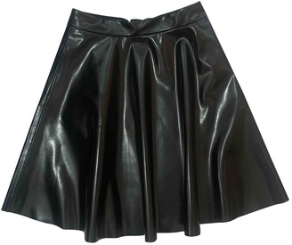 MSGM Black Patent leather Skirts