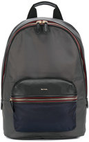 Paul Smith contrasting trim backpack - men - Calf Leather/Acrylic/Nylon/Polyester - One Size