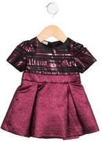 John Galliano Girls' Brocade Logo Dress