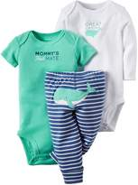 Carter's Baby Boy's 3 Piece Bodysuits & Pant Set (Baby)