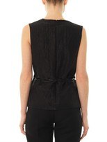 Christopher Kane Crocodile-clip techno-crepe top