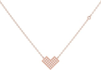 Lmj One Way Necklace In 14 Kt Rose Gold Vermeil On Sterling Silver
