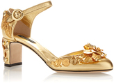 Dolce & Gabbana Embellished Gold Sandals