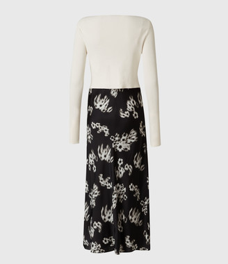 AllSaints Hera Jasmine 2-In-1 Dress