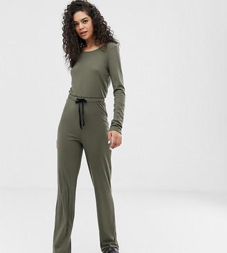Noisy May Tall ribbed jumpsuit-Green