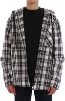 Off-White Off White Checked Hooded Shirt