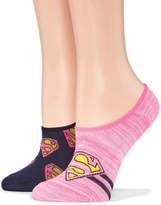 Asstd National Brand 2 Pair Liner Socks - Supergirl